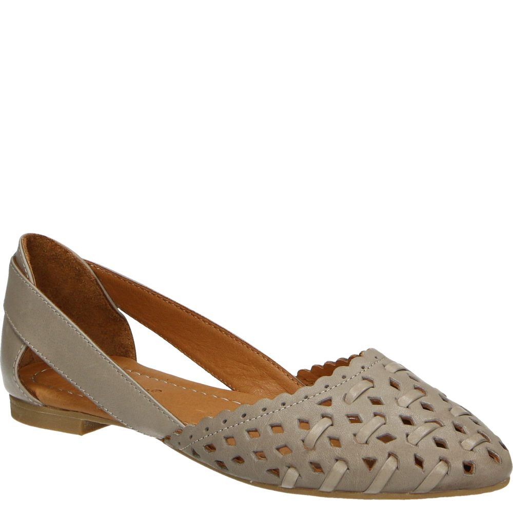 Baleriny 181706 Taupe Shoes Wedges Sandals