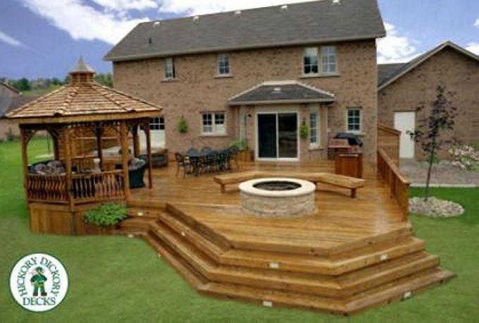 Gazebo Deck on Backyard A Stunning Idea