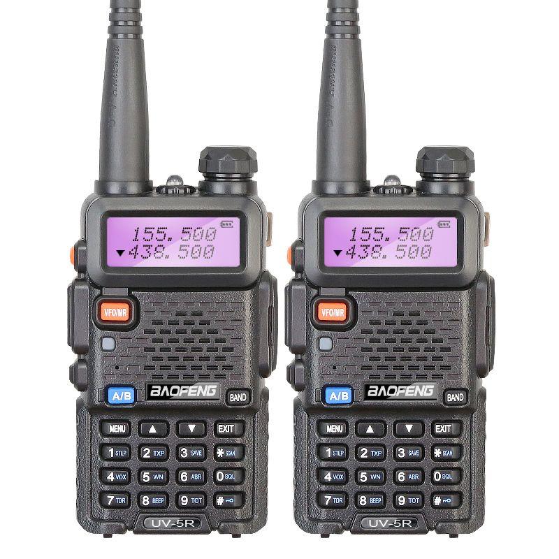 2 teile/los marke neue baofeng uv-5r sprech vhf 136-174 mhz & UHF 400-520 MHz UV5R Dual-Band Walkie Talkie