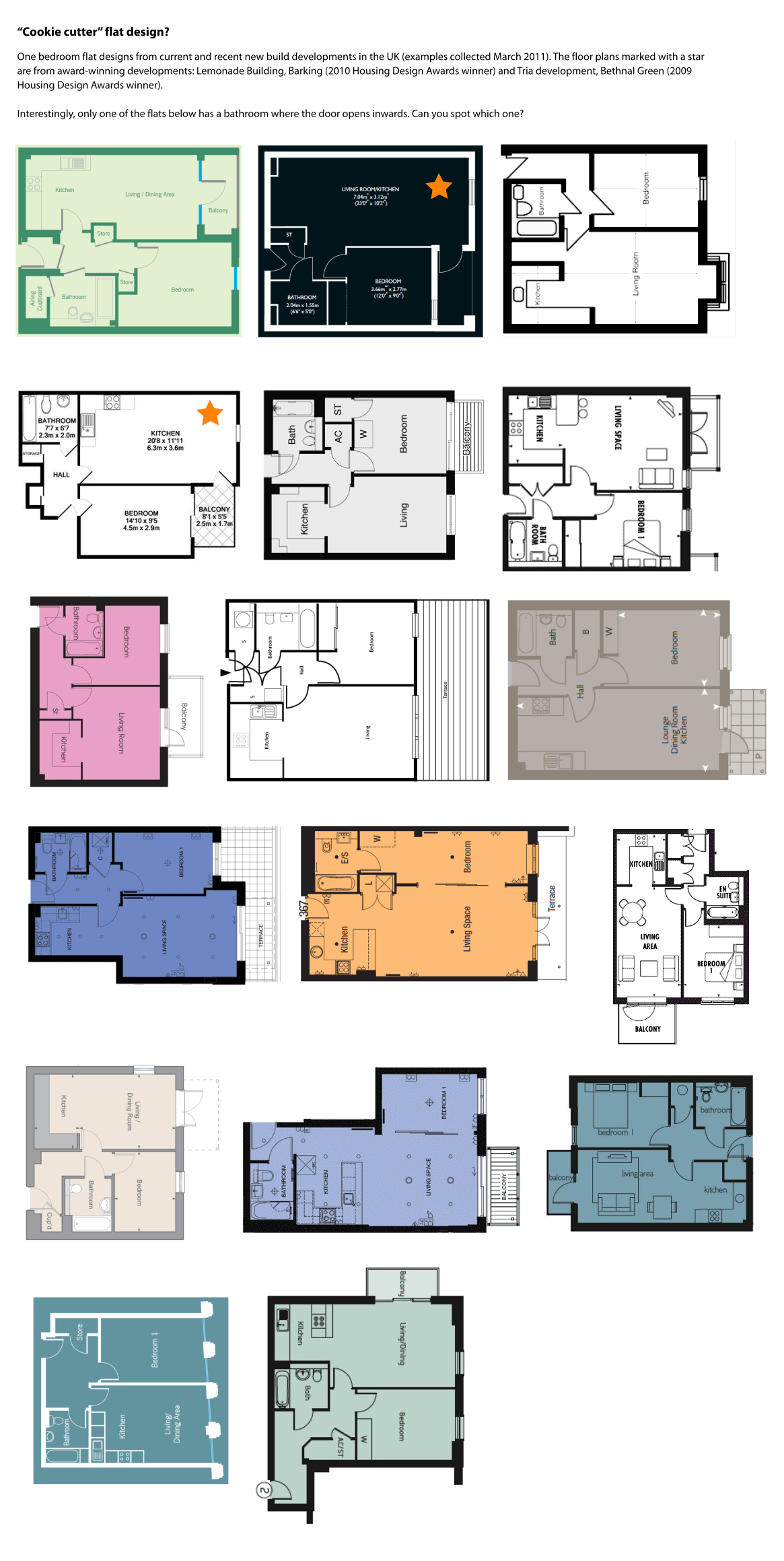 1 Bedroom Flat Layout
