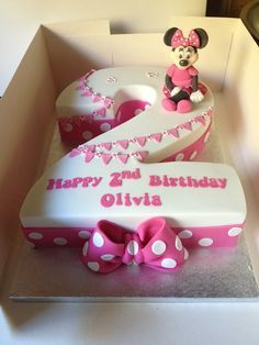 2nd Birthday Cakes For Girls 2 Year Old Cake Mini Mouse