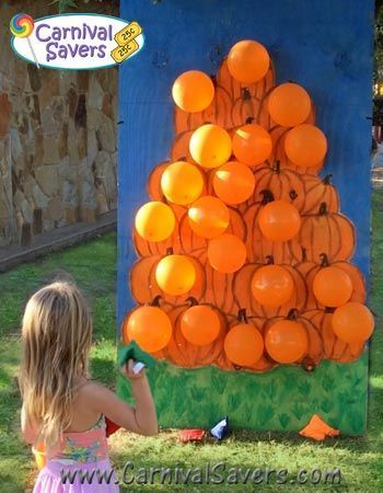 Fall Festival Idea Pop a Pumpkin - NO DARTS Needed!