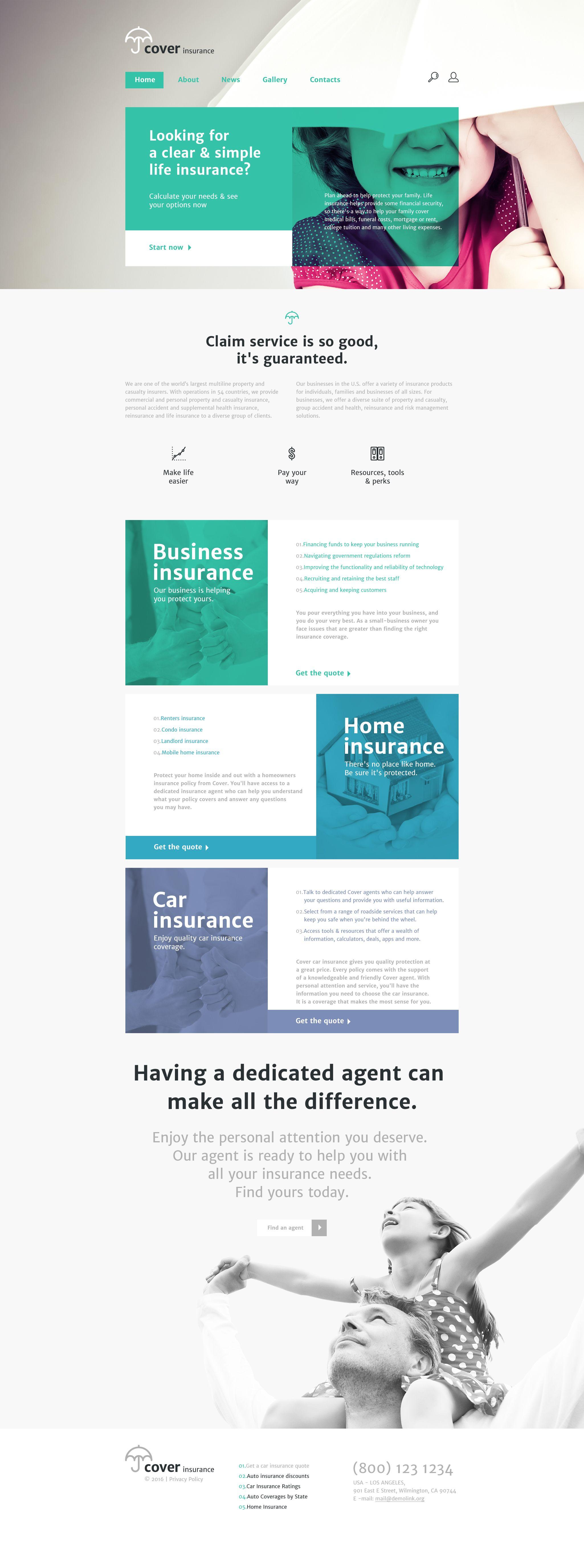 Insurance Website Template Insurance Website Web Design Mobile