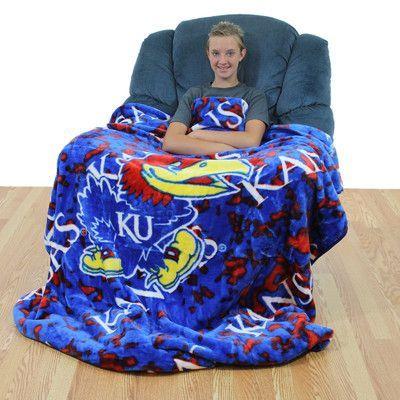 College Covers NCAA Kansas Throw Blanket