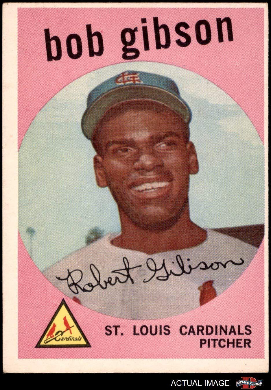 1959 topps 514 bob gibson st louis cardinals baseball