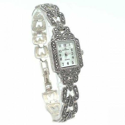 76d1c5955bcf Reloj plata de ley para mujer de la marca Minister