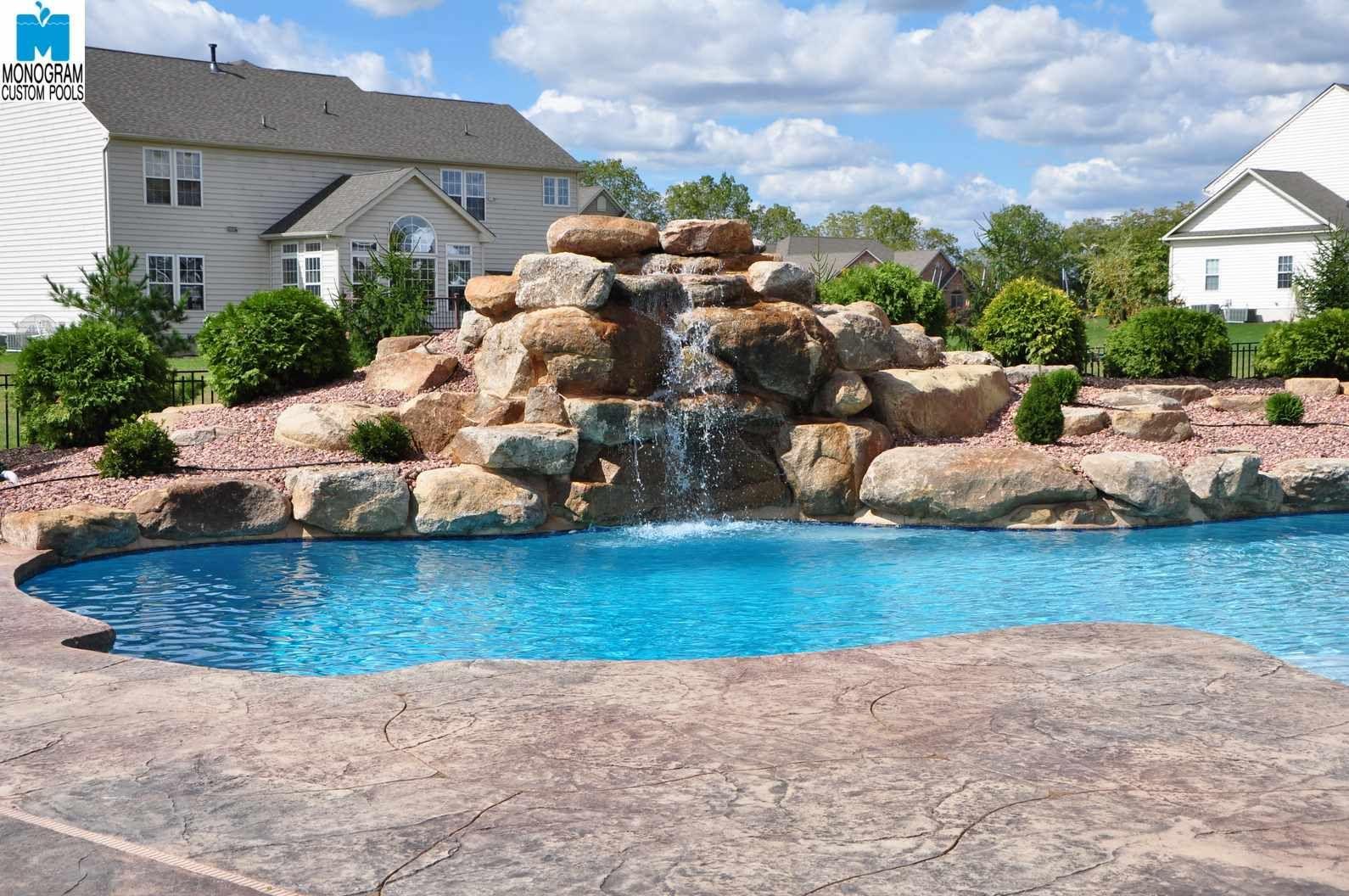 Custom Boulder Waterfall By Monogram Custom Pools Pool