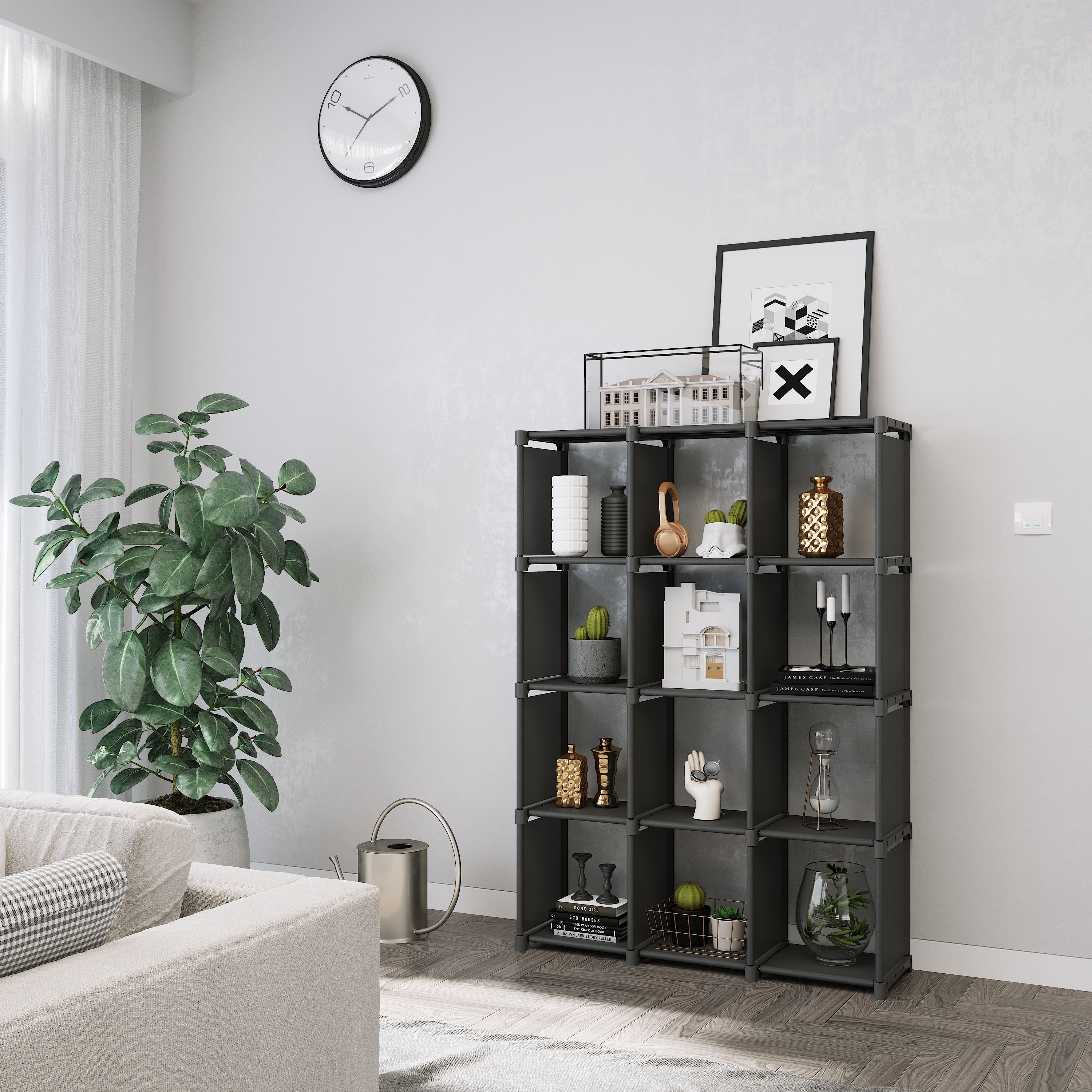 12 Cubes Open Organizer With Images Cube Storage Shelves Cube
