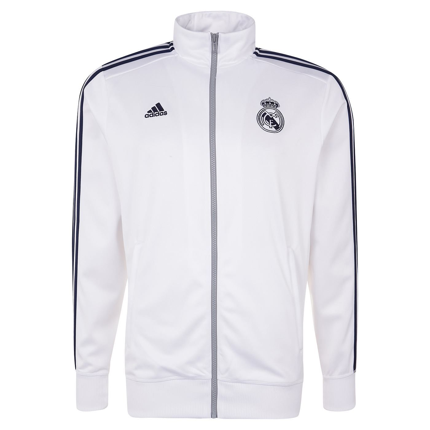 Adidas Real Madrid Trainingsjacke Herren weiß gold im