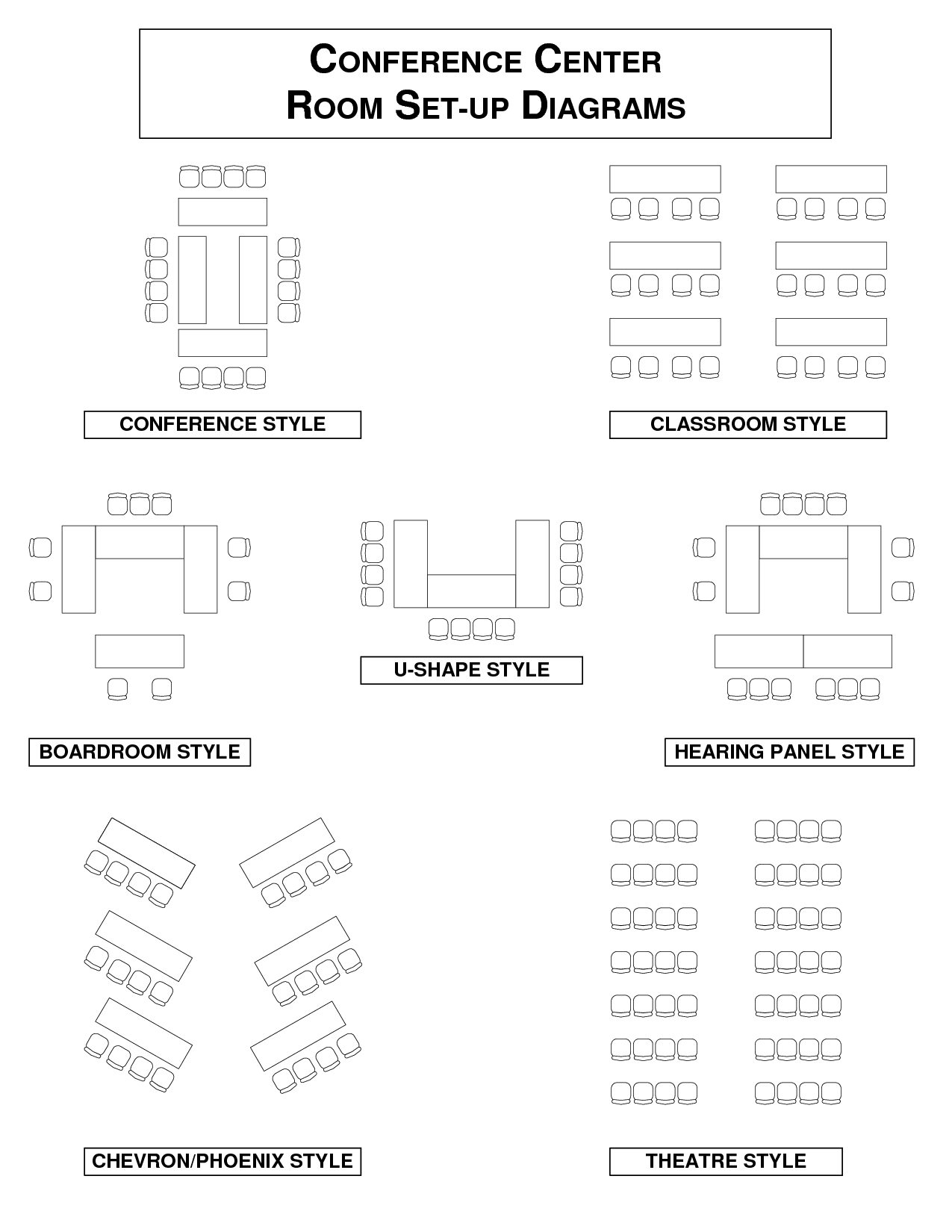 hight resolution of conference meeting room set up diagrams