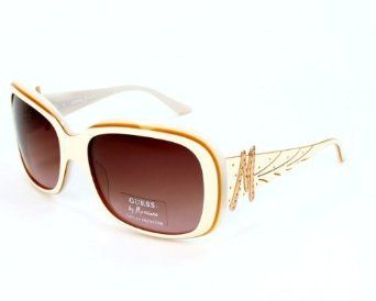 6398998721d GUESS by Marciano Sunglasses GM 606 IV34 Acetate plastic - Rhinestones  White Gradient brown GUESS by Marciano.  95.72