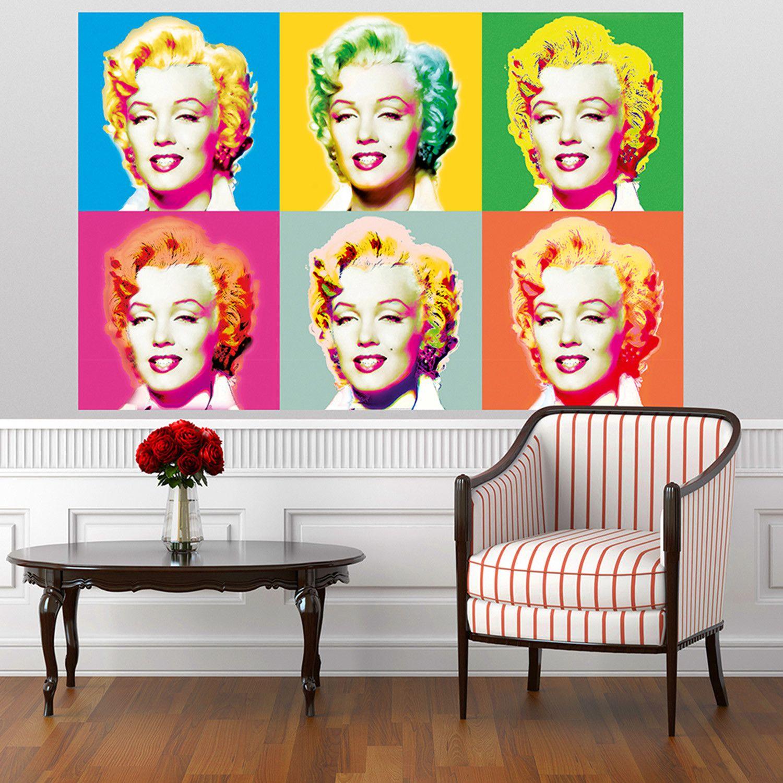 Marilyn Monroe Pop Art Wall murals, Wallpaper panels