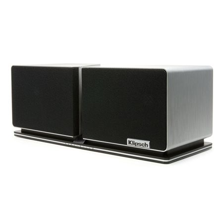 Designed to match both the elegance and acoustic signature of a high-end component audio system, the Klipsch Stadium™ home music system perfectly executes the performance levels assigned to it at any given time. Its presence is extremely solid and visually dominant, yet in a compact size suited for many different home environments. ($1,999.99) #musicsystem