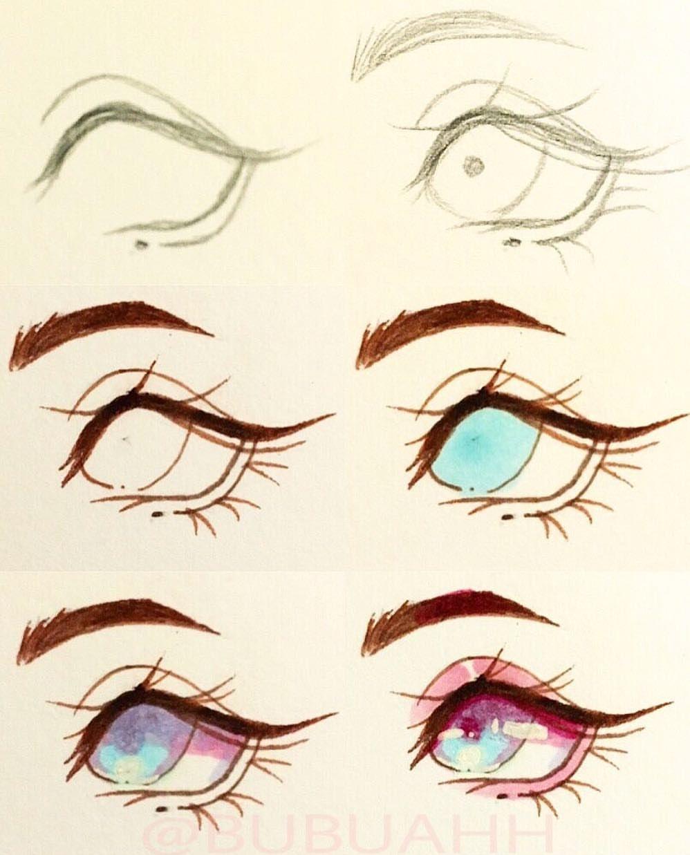 Картинки разные стили глаз