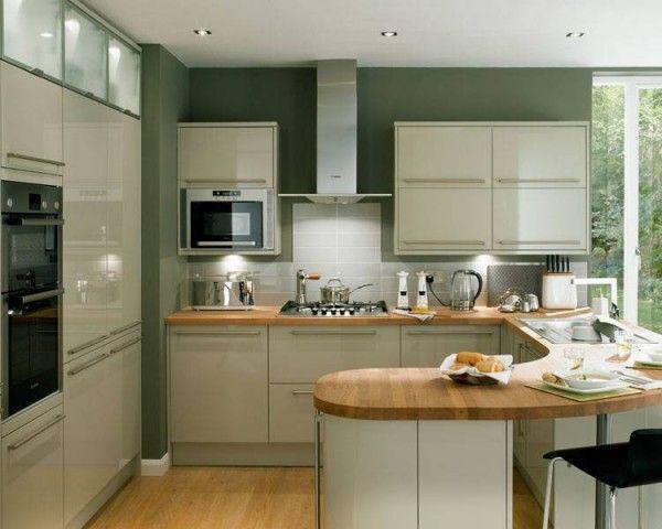 Grey Kitchen Wooden Worktop Google Search Open Plan Kitchen