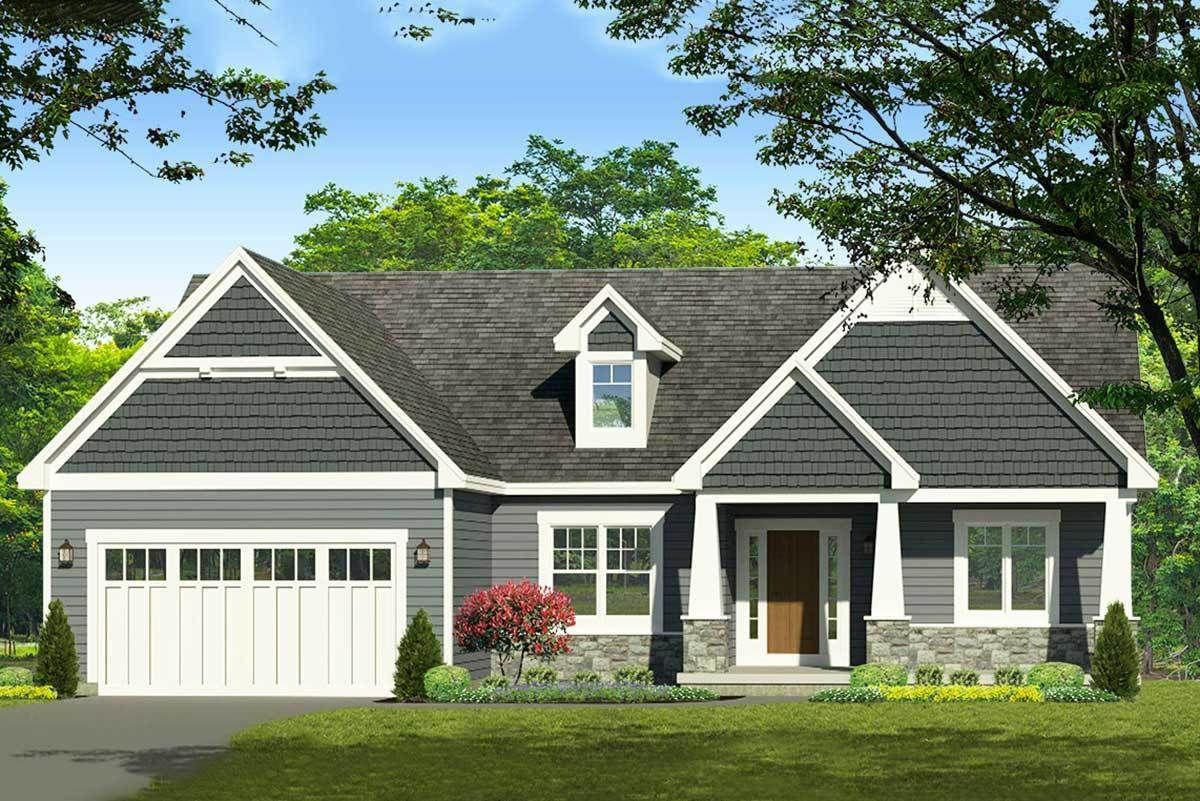 Plan 790022glv Exclusive 3 Bed Craftsman Ranch Home Plan With Master Bath Option Craftsman House Plans Ranch House Plans Craftsman Style House Plans