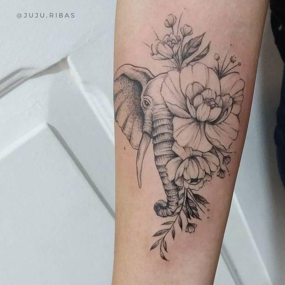 52 Elephant to Fernanda #tattoo