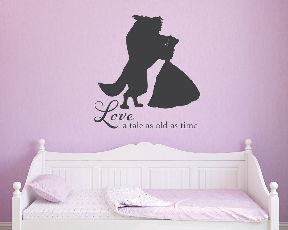 beauty and the beast tale as old as time princess girls vinyl wall beauty and the beast tale as old as time princess girls vinyl wall decal by grabersgraphics