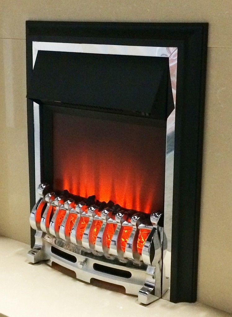 Sale Price 80 40 Ezee Glow Inset Electric Fire Chrome Finish