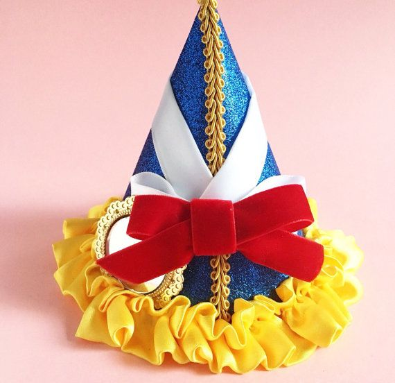 c97e971b008 LOVELY Snow White Insired Party Hat Red Velvet Bow