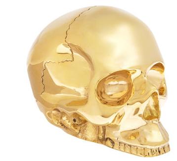 Gold Skull Paperweight From Barneys Ny Skull Brass Decor Gold Skull