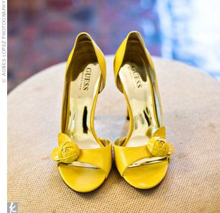 1000  images about wedding shoes on Pinterest | Yellow high heels ...