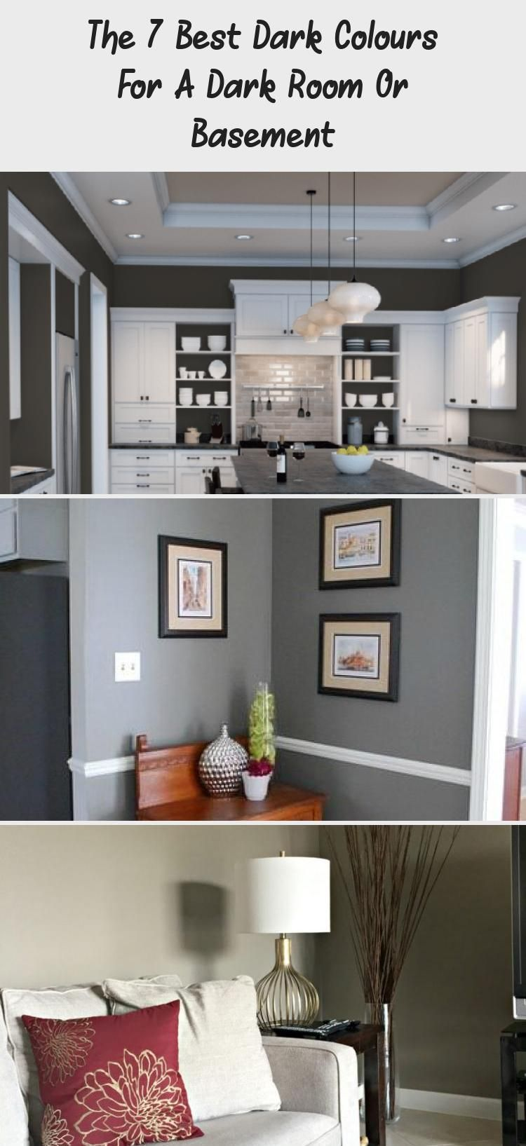A Comprehensive Overview on Home Decoration | Dark paint ...