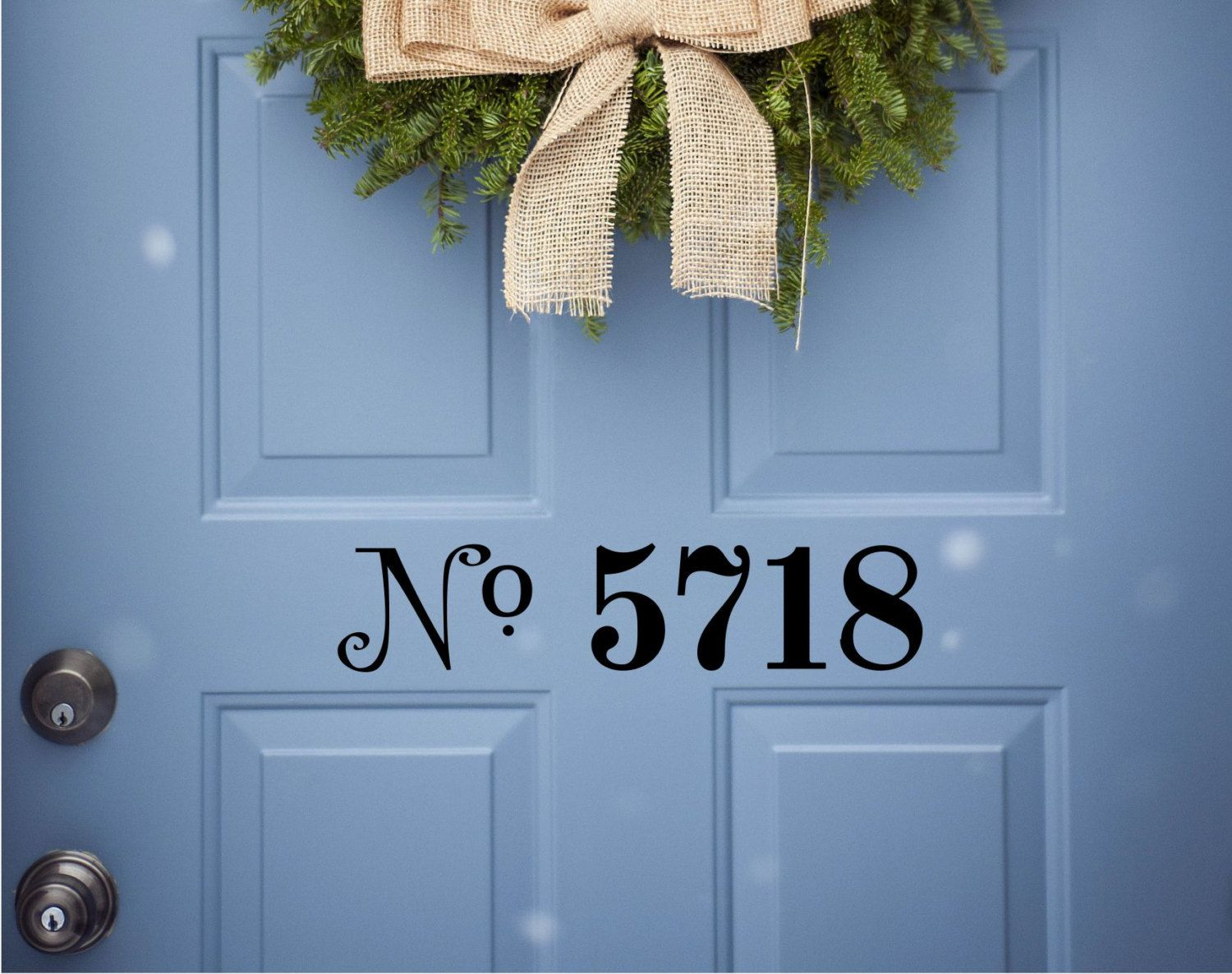 Custom House Number Vinyl Door Decal Address Decals Home Office - Custom vinyl decals numbers