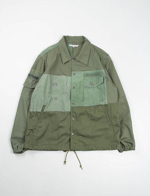 Needles Rebuild olive coach jacket
