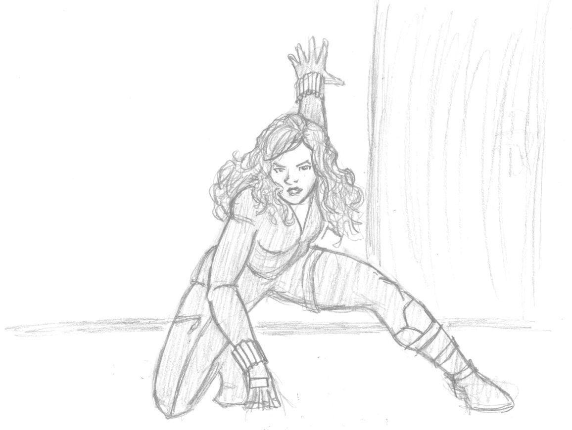 Black Widow Sketch Marvel Avengers Superhero Sketches Black Widow Superhero Avengers Coloring Pages