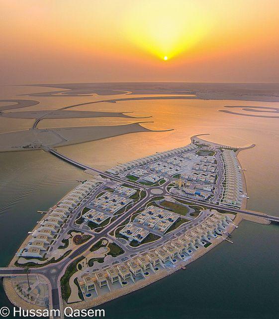 Durrat Al Bahrain Artificial Island Aerial Photography Aerial