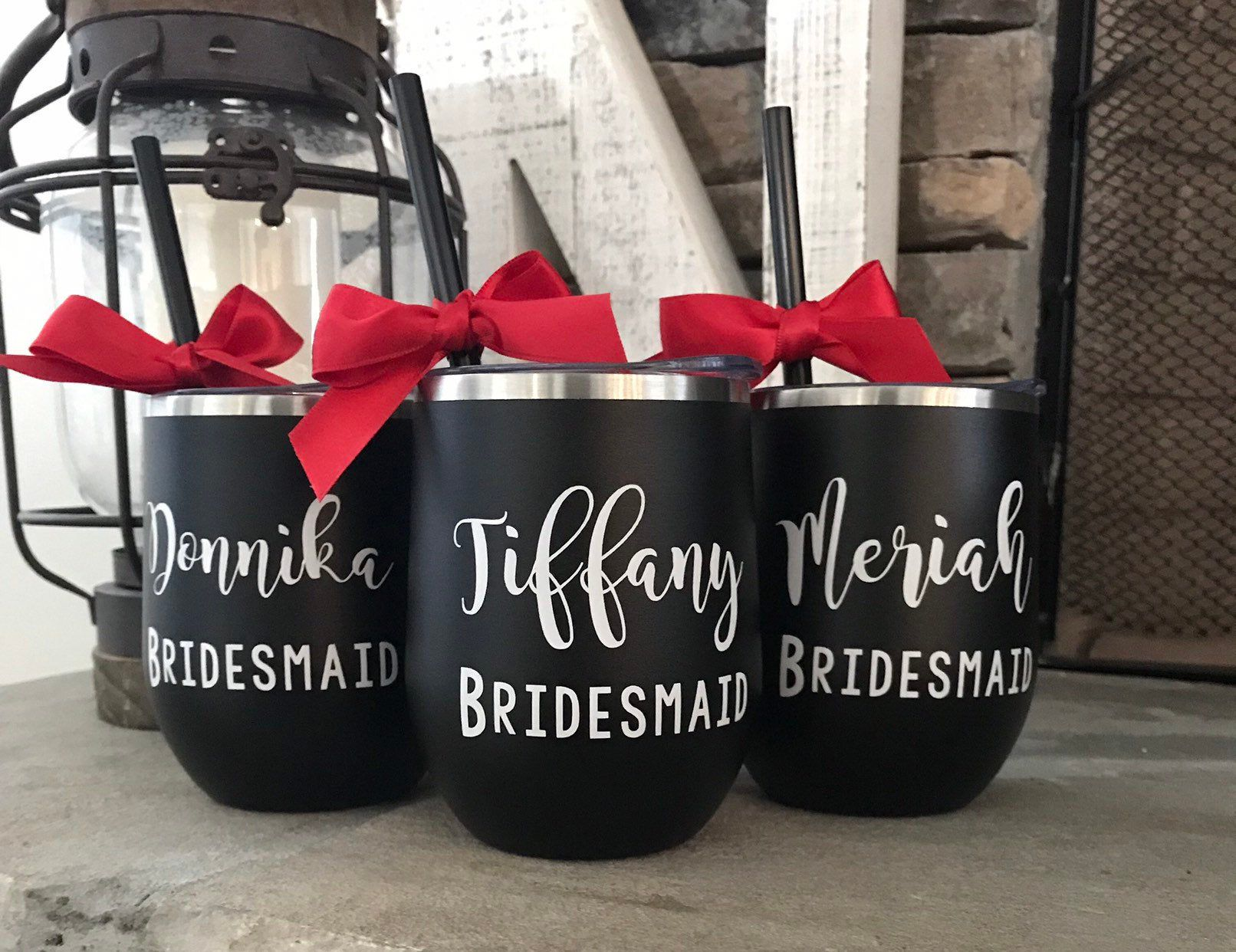 Personalized Cups For Bridesmaids Stainless Wine Tumblers Etsy In 2020 Bridesmaid Proposal Personalized Bridesmaid Gifts Bridesmaid Proposal Gifts