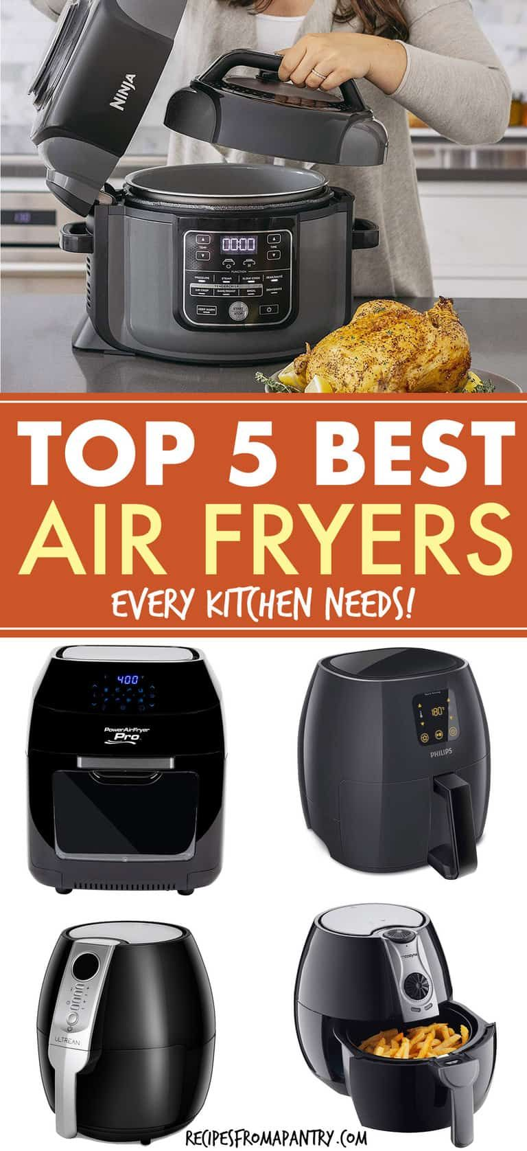 We have reviewed 5 top Air Fryers every kitchen needs. We show you everything you need to know when