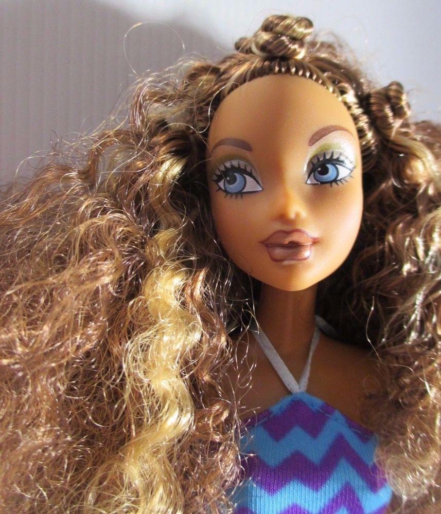 Brown Curly Hair Barbie Doll - 25 Easy Summer Hairstyles - Luxy Hair