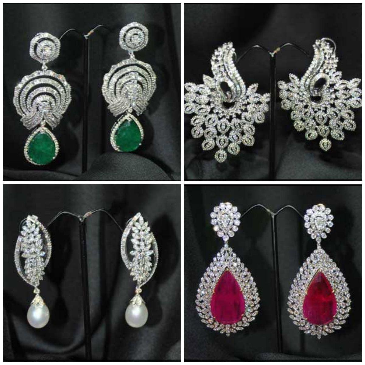 Our diamond earrings collection! #JetGems #diamonds #earring ...