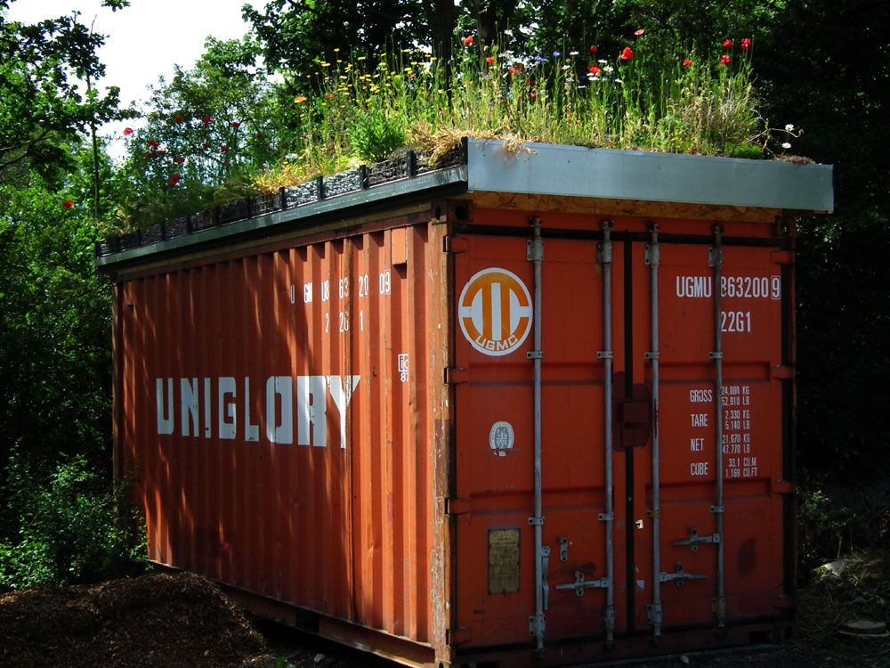 The grass roof company green roof containers sustainable inspirations design and art - Container homes hawaii ...
