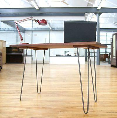 Mid Century Desk Hairpin Legs Writing Table Industrial Vintage Retro 60s 70s Retro Desk Mid Century Desk Desk Furniture