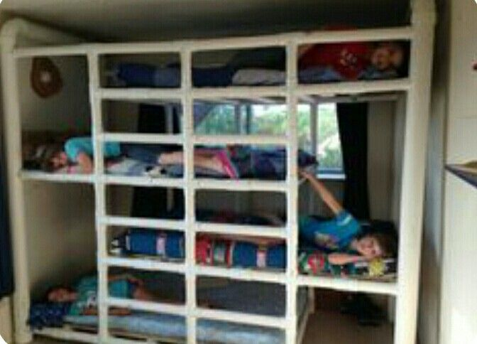 DIY Bunk Beds   PVC Hmmm Interesting Idea Thatu0027s Adaptable To Other  Projects Such As A Bed Canopy