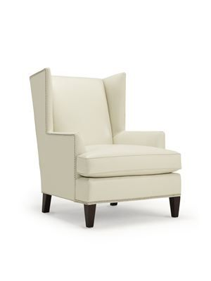 Kalinda S Chair As Seen In Her Apartment On The Set Of Good Wife Off White Leather With Silver Nailhead Trim And Dark Java Legs
