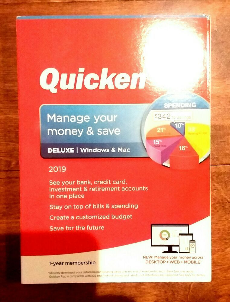 eBay #Sponsored QUICKEN DELUXE 2019 1 YEAR MEMBERSHIP FOR