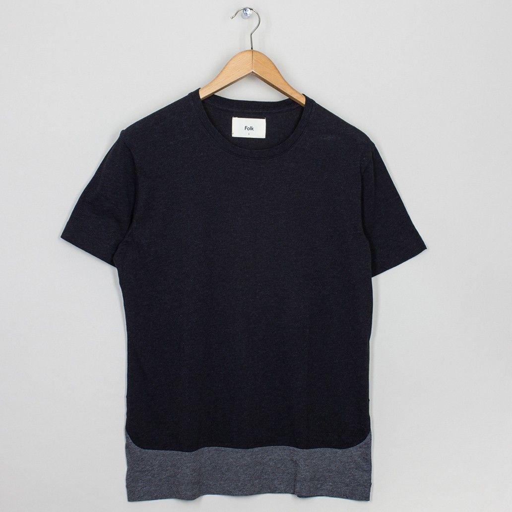 Bib T-Shirt - Charcoal | Folk | Peggs & son.
