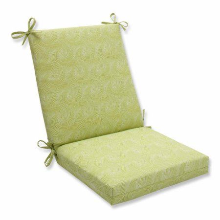 Pillow Perfect Outdoor/ Indoor Nabil Kiwi Squared Corners Chair Cushion, Green