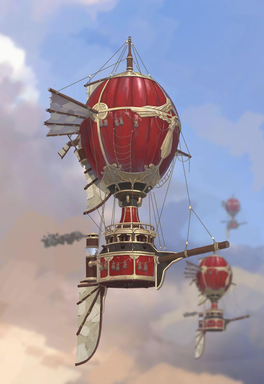 Steampunk Balloon Airship
