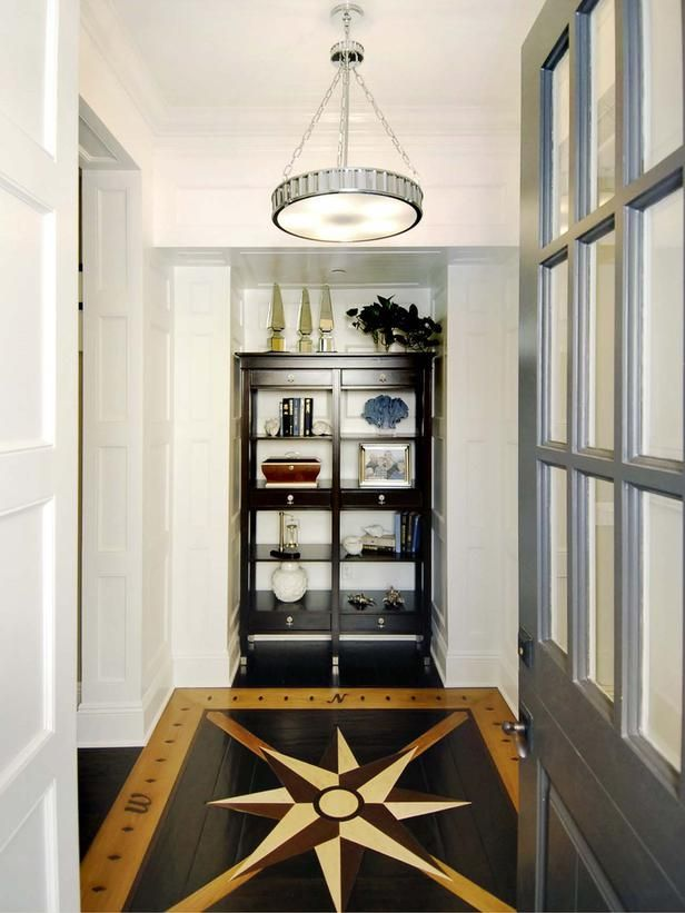 Nautical Foyer Ideas : Nautical foyer a compass design on the hardwood