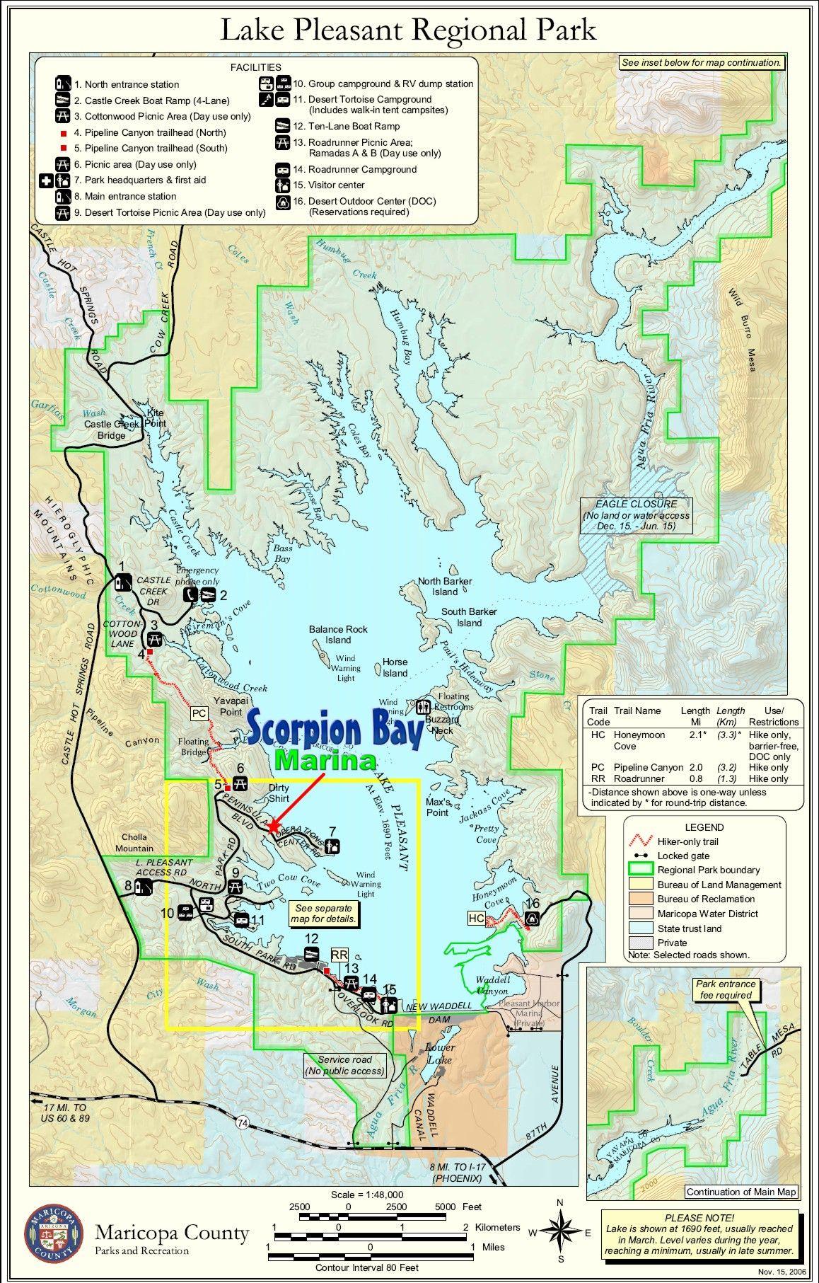 map of lake pleasant Scorpion Bay Boat Rentals Lake Pleasant Arizona Bay Boats map of lake pleasant