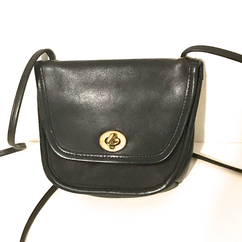 8d335777a48 Vintage Coach Bag Black Leather Coach Purse Mini Black Crossbody Designer  Handbag Designer Purse Retro Mini Coach Handbag Small Coach Bag by ...