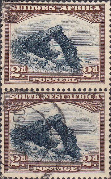 South West Africa 1931 Bogenfels Vertical Pair SG 76 Fine Used SG 76 Scott 110 Other British Commonwealth Stamps for sale here