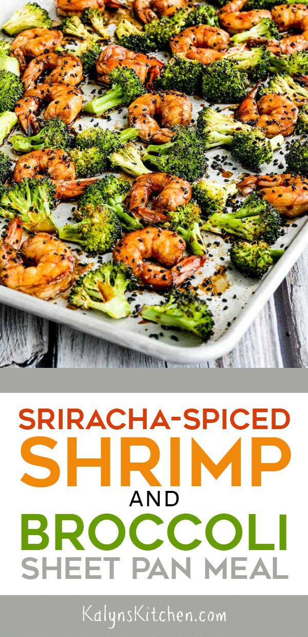 Sriracha-Spiced Shrimp and Broccoli Sheet Pan Meal (Video)