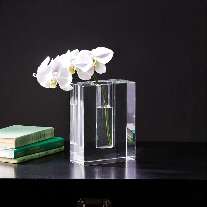 Dixon Block Crystal Vase Design By Twos Company Crystal Vase