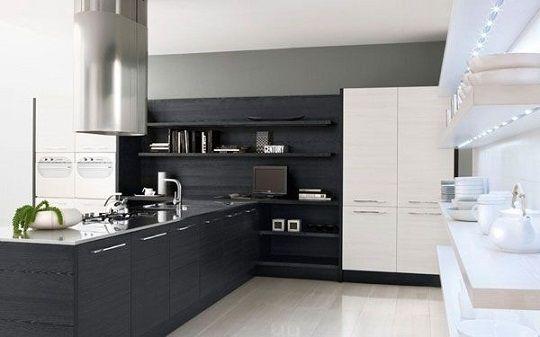 cocina blanco negro mate deco decoraci n de unas On frente de cocina negro mate